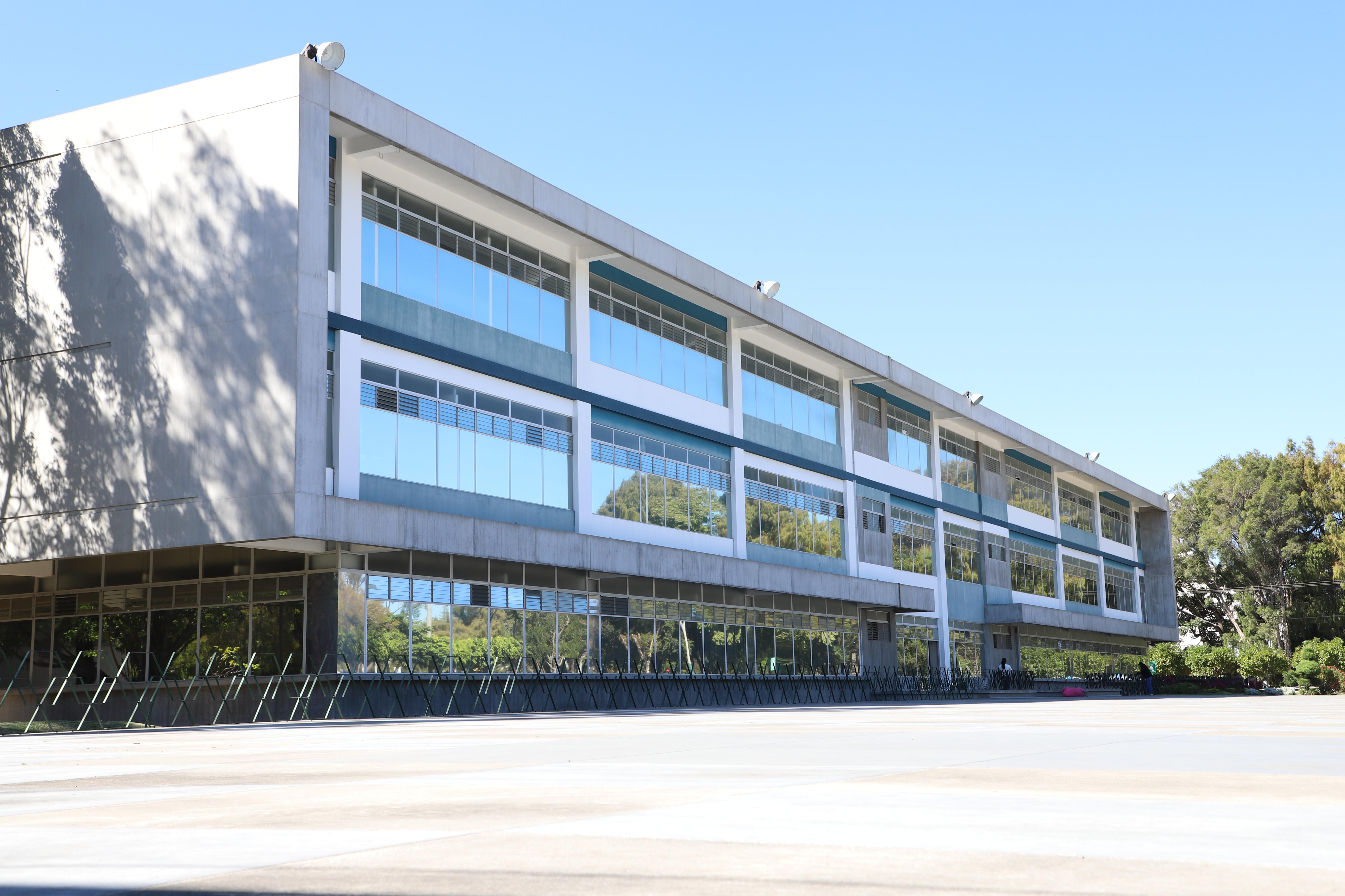 En el edificio de la Dirección General de Administración DIGA, se encuentran las oficinas del Departamento de Registro y Estadística de la USAC, encargado de la inscripción de estudiantes. Fotografía Elio Morales