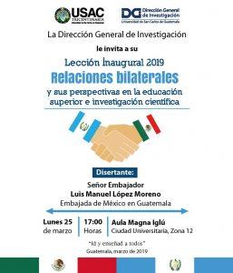 Relaciones bilaterales y sus perspectivas en la educación superior e investigación científica. @ Aula Magna Iglú, Campus Central, Ciudad de Guatemala