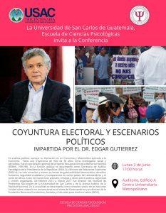 Coyuntura Electoral y Escenarios Políticos @ Auditorio del Edificio A