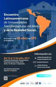 Encuentro Latinoamericano de Universidades Transformadoras del Medio y de la Realidad Social @ Paraninfo Universitario